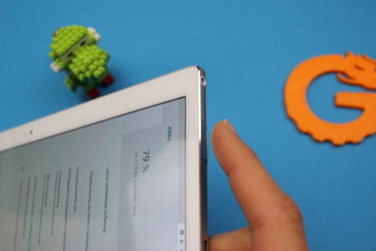 sensor de huellas dactilares de la tablet