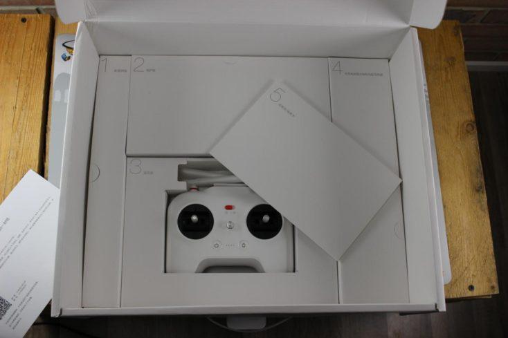 Unboxing del Xiaomi Mi Drone rótulos en cada paquete