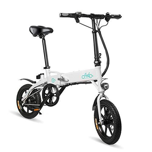 FIIDO D1 bicicleta eléctrica en blanco