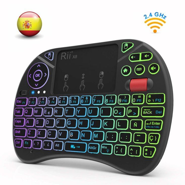 teclado inalámbrico QWERTY