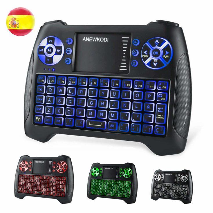 teclado inalámbrico ANEWKODI T16 con luz de retroalimentación en tres colores