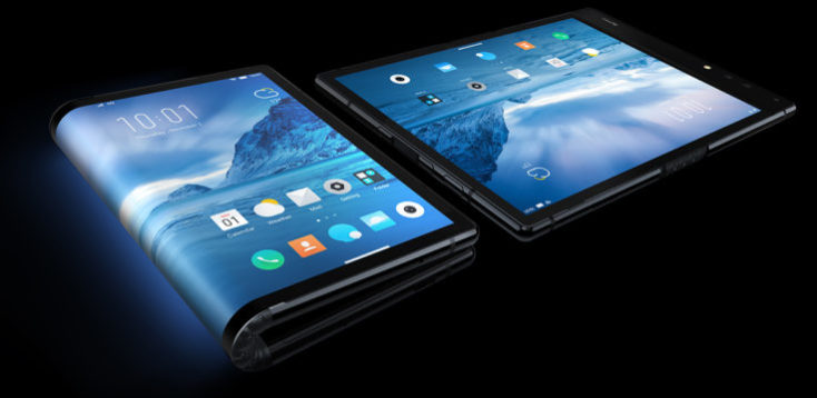 smartphone plegado y desplegado