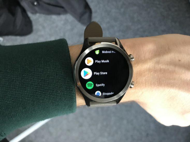 menú del aplicaciones del Ticwatch C2