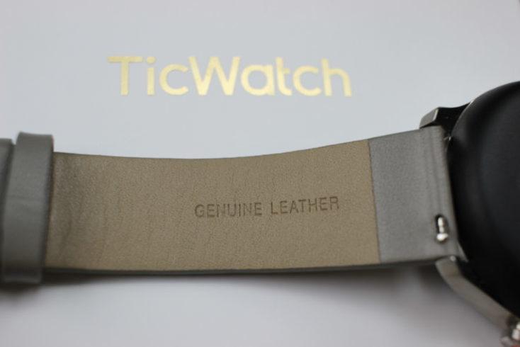 correa de cuero del Ticwatch C2