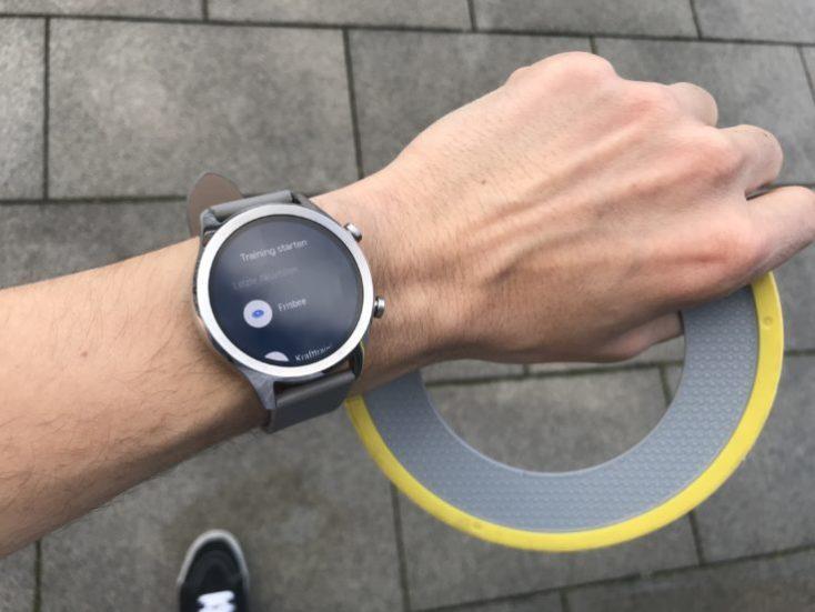 Modo deporte Frisbee con el Ticwatch C2