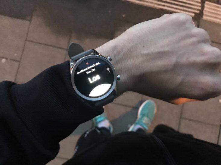 Modo deporte en el Ticwatch C2, antes de correr