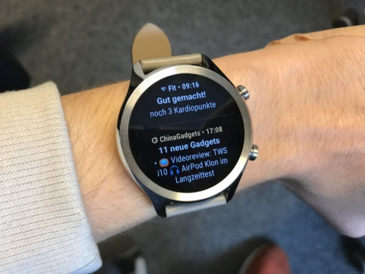 Notificaciones en el Ticwatch C2