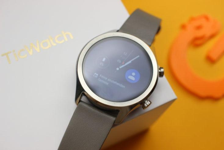 pantalla encendida del Ticwatch C2