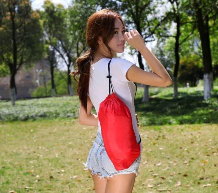 bolsa de transporte de la tumbona inflable en rojo