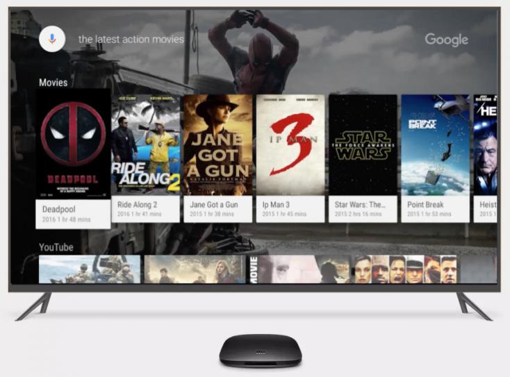 búsqueda de películas en Android TV con el Mi Box TV