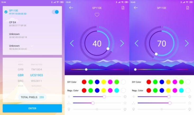 Captura de pantalla de la aplicación de la Alfawise A9 DIY