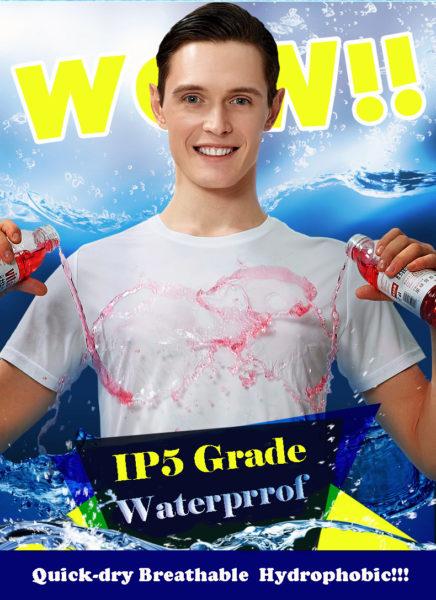 Camiseta hidrofóbica