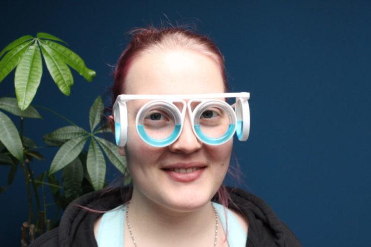 Vista de frente con las gafas puestas