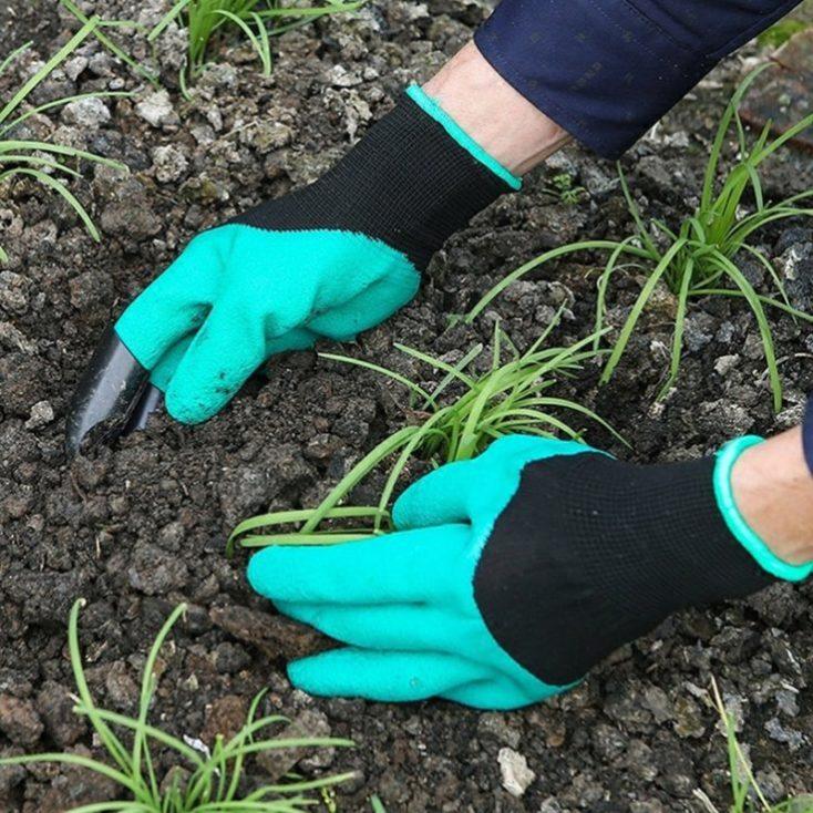 guantes para jardinería con garras