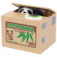 Hucha de oso panda roba monedas