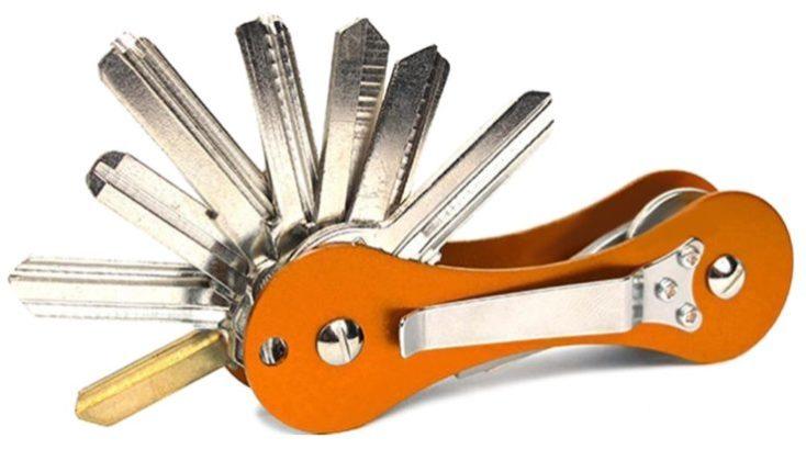 organizador de llaves naranja