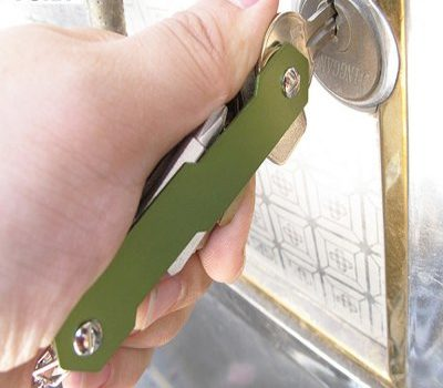 organizador de llaves verde
