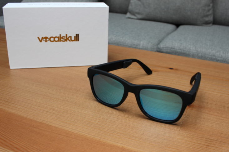 gafas de sol vocalskull y la caja