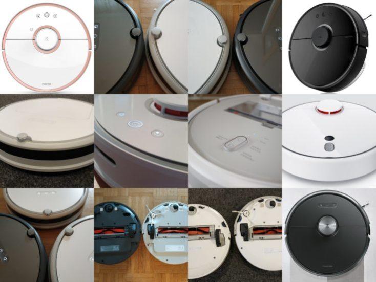 fotos de distintos robots aspiradores de Xiaomi