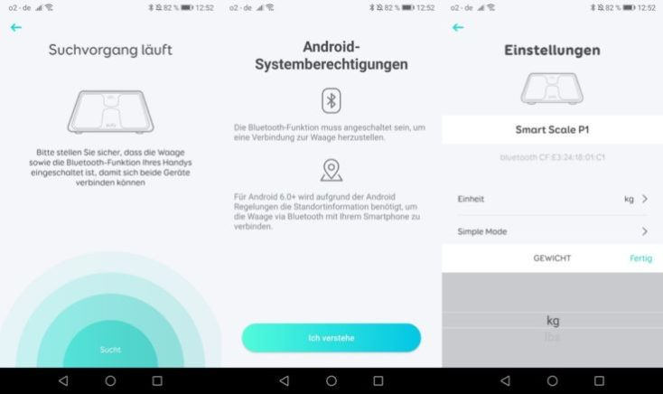 Capturas de pantalla de la app de la Báscula inteligente Eufy Smart Scale P1
