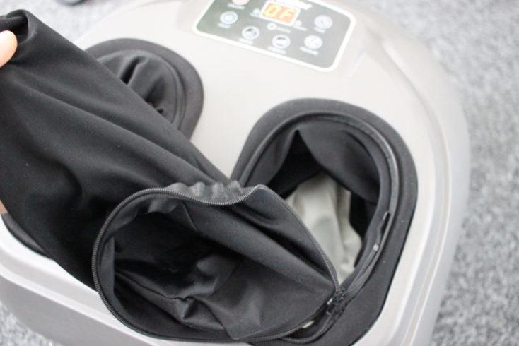 Tela con cremallera de los huecos para los pies del Masajeador de pies Arealer