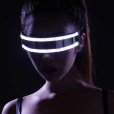 gafas led en blanco