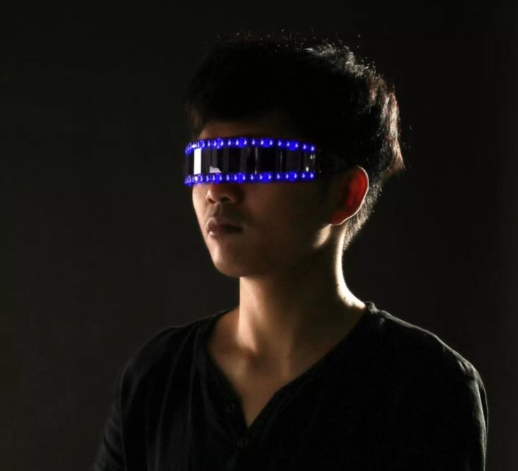 gafas LED en azul