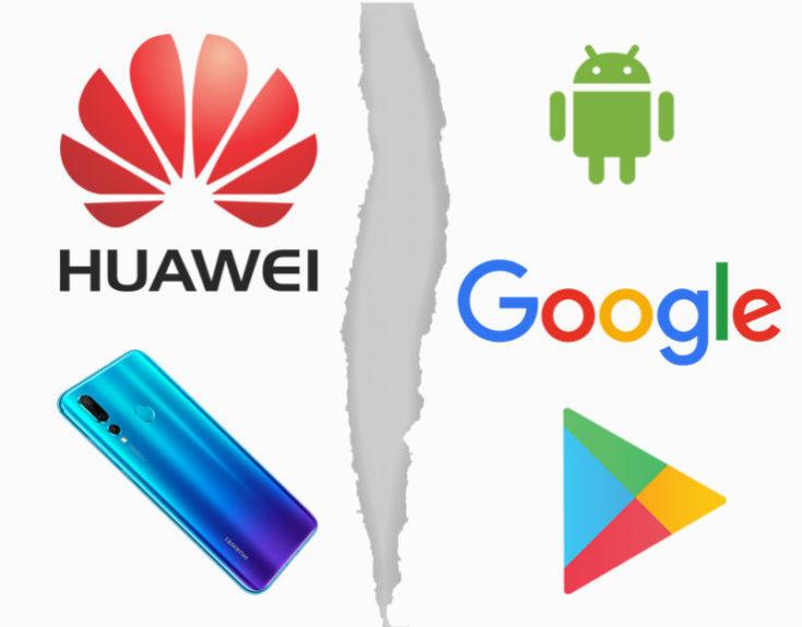 Ruptura de la cooperación de Google con Huawei