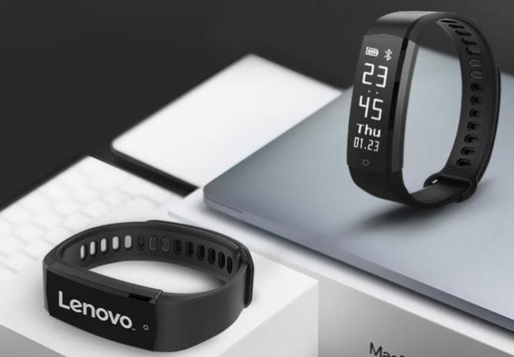 Fitness tracker Lenovo HX06H de pie y tumbado
