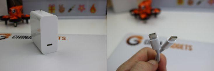 Enchufe y clable USB-C DEL Xiaomi Mi Notebook Pro