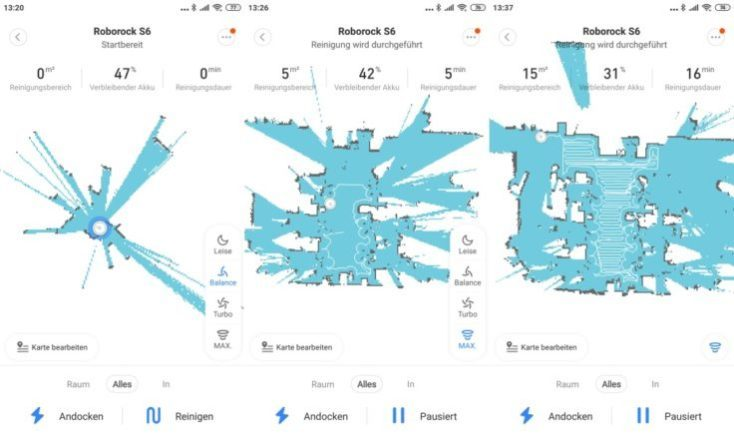 mapeo del Xiaomi Roborock S6