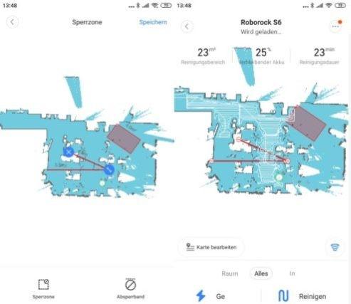 Zonas prohibidas y muros virtuales en la aplicación del Xiaomi Roborock S6