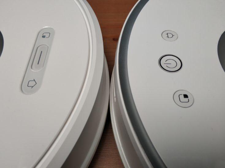 botones del Xiaomi Roborock S6 y del Xiaomi Roborock S50