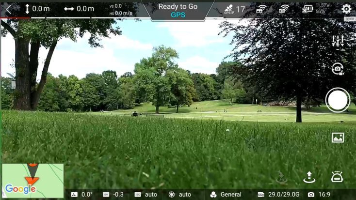 Captura de pantalla de la App del Drone FIMI X8 SE a punto de despegar