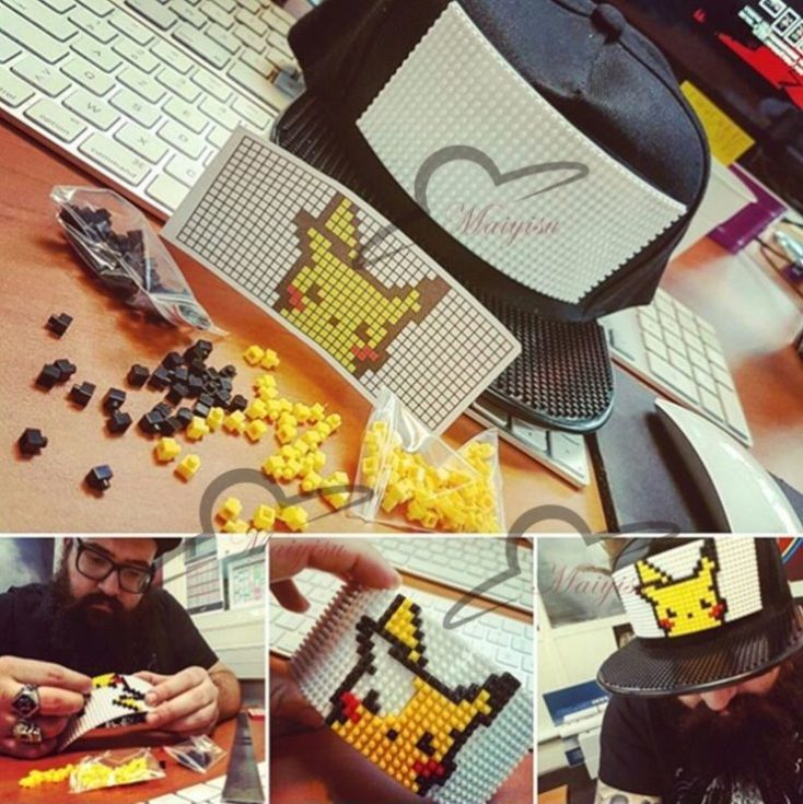 Gorra personalizable con bloques de juguete Pikachu