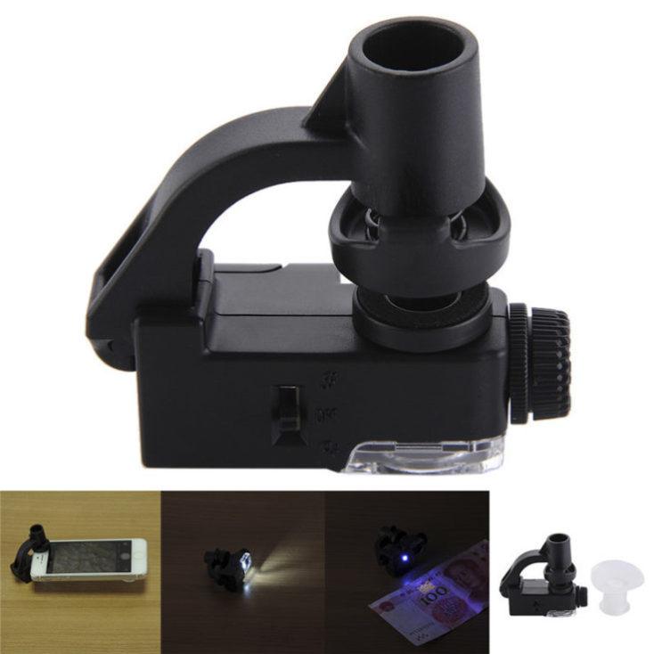 Microscopio para el smartphone con luz LED