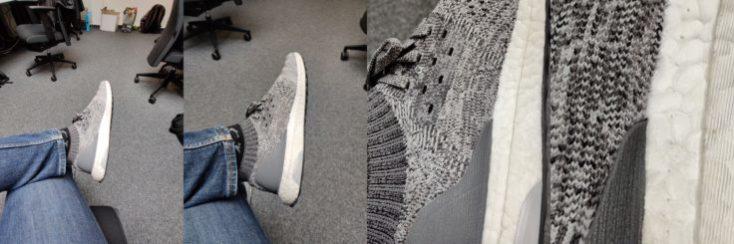 Fotos de prueba con zoom de mis zapatillas con el One Plus 7 Pro