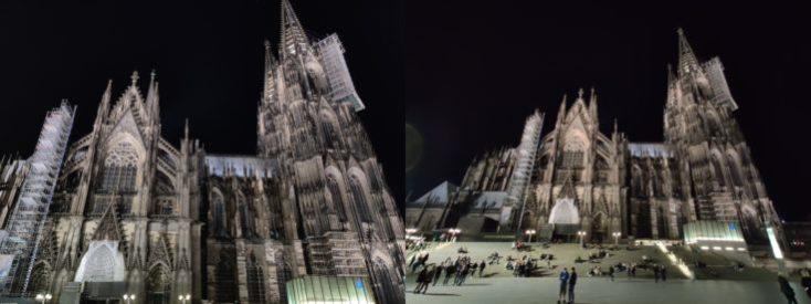 Fotos de prueba de la catedral de Colonia con el objetivo ultra gran angular del One Plus 7 Pro
