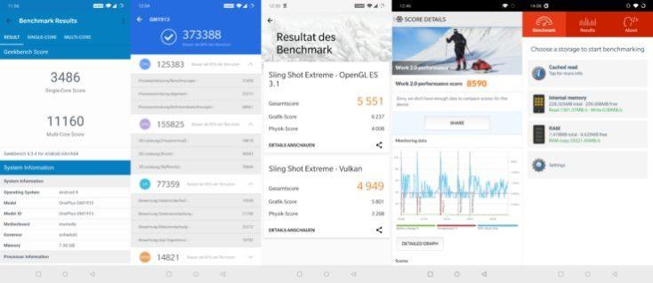 Resultados de las pruebas de rendimiento (Benchmarks) del One Plus 7 Pro