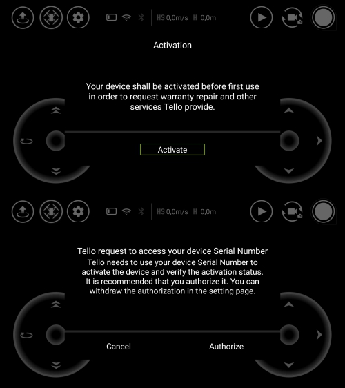 Registro en la App del Drone Ryze Tello