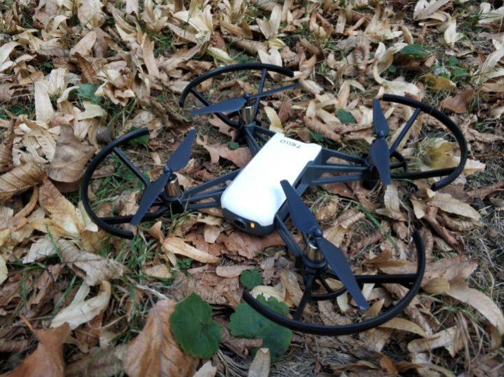 Drone Ryze Tello en el suelo