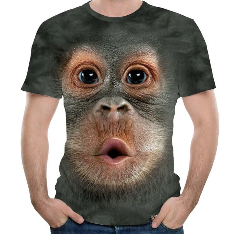 Camiseta de mono puesta