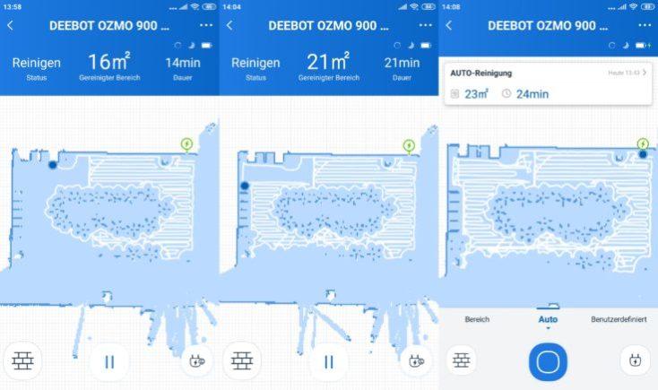 Mapeo App del Robot aspirador Deebot Ozmo 900