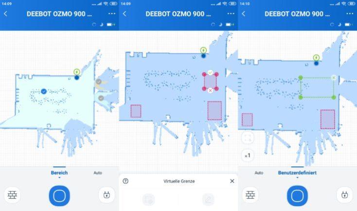 Paredes virtuales App del Robot aspirador Deebot Ozmo 900