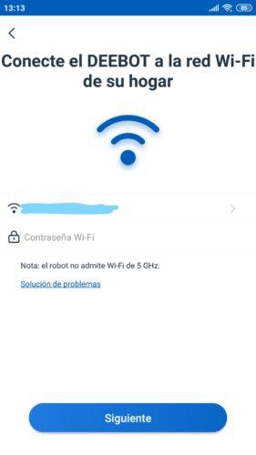 Seleccionar red wifi e introducir contraseña