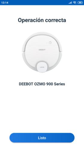 Conexión del Robot aspirador Deebot Ozmo 900 en la App