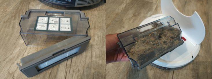 Depósito de polvo del Robot aspirador Deebot Ozmo 900