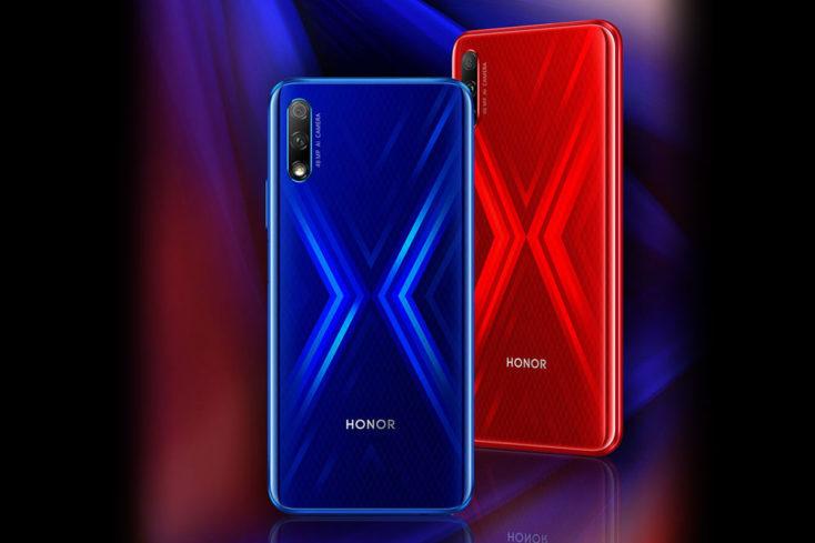 hONOR 9X en azul y rojo