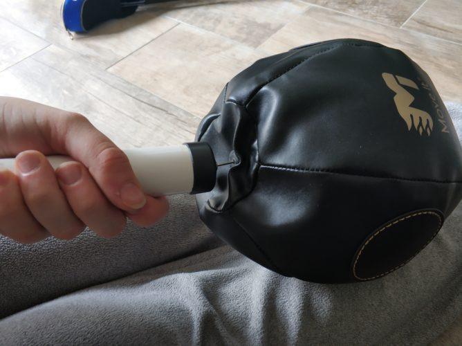 Inflando la Bola de boxeo inteligente MoveItSpeed