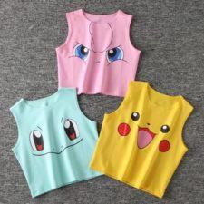 Camisetas de Pokemon en tres modelos distintos